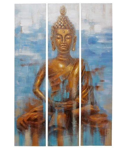 Home affaire 3 teiliges Bilder-Set »Buddha«, 120/180cm