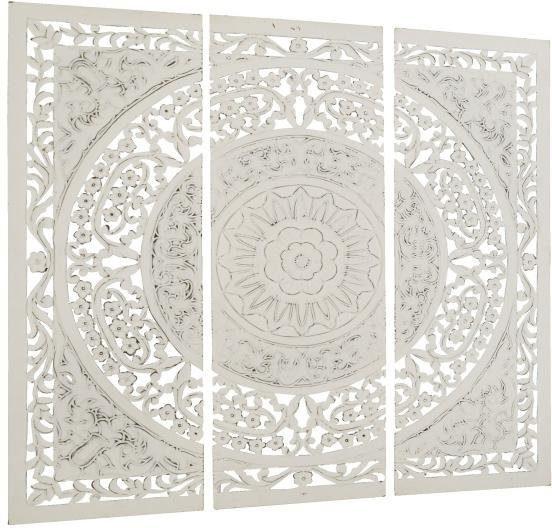 Home affaire 3- teilges Wandbild »Ornamente« aus Holz, 122/122 cm