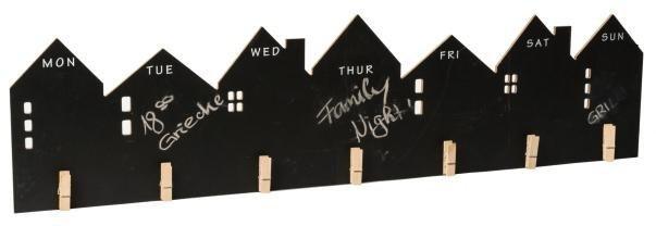 Home affaire Wand-Wochenplaner in schwarz