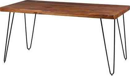 Home affaire Esstisch »SURYA« mit Massivholz-Tischplatte