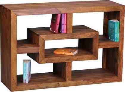 Home affaire Bücherregal »Kendr« aus massivem Sheesham-Holz