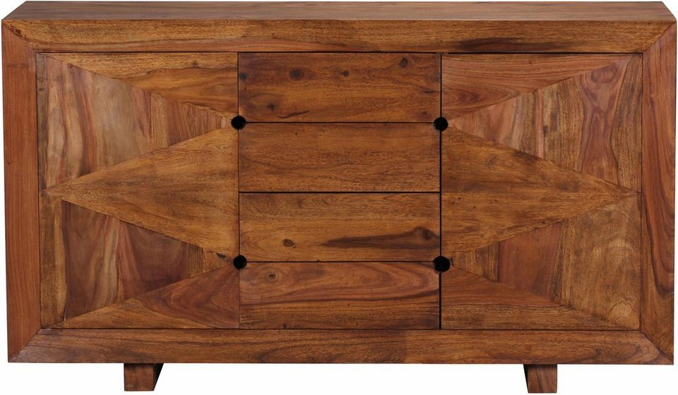 Home affaire Sideboard »Sumantra« 145 cm breit in braun