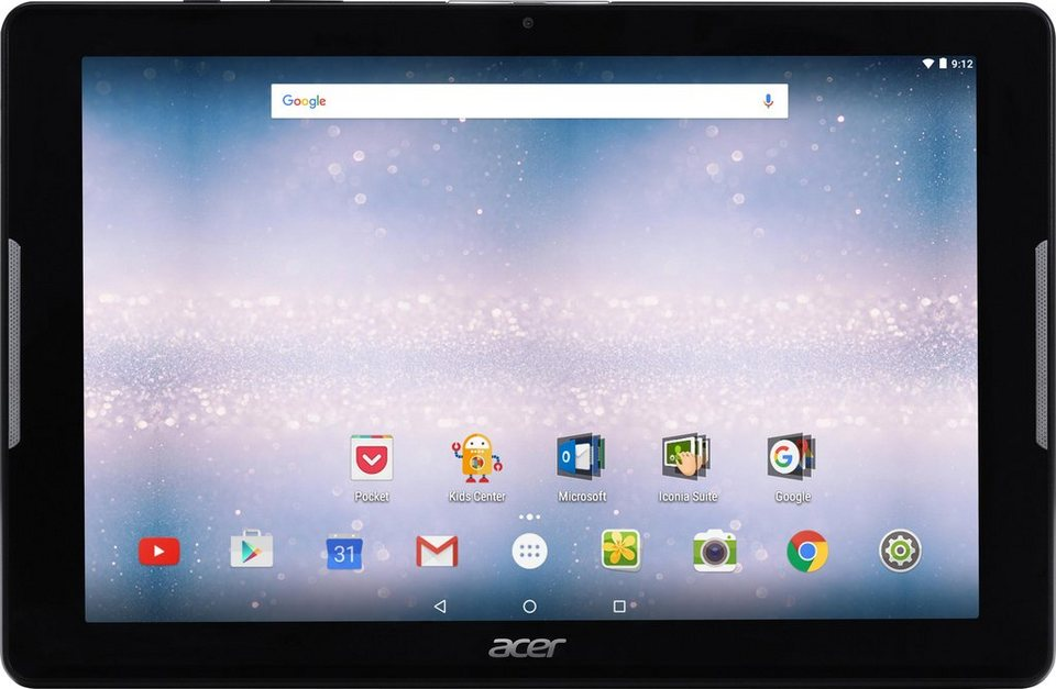 Acer Iconia One 10 Tablet-PC, Android 6.0, 26,6 cm (10,1 Zoll), 1024 MBDDR3L RAM in schwarz