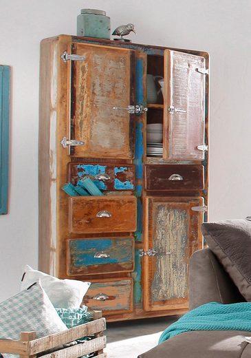 SIT Stauraumschrank »Fridge« Höhe 190 cm, Shabby Chic, Vintage