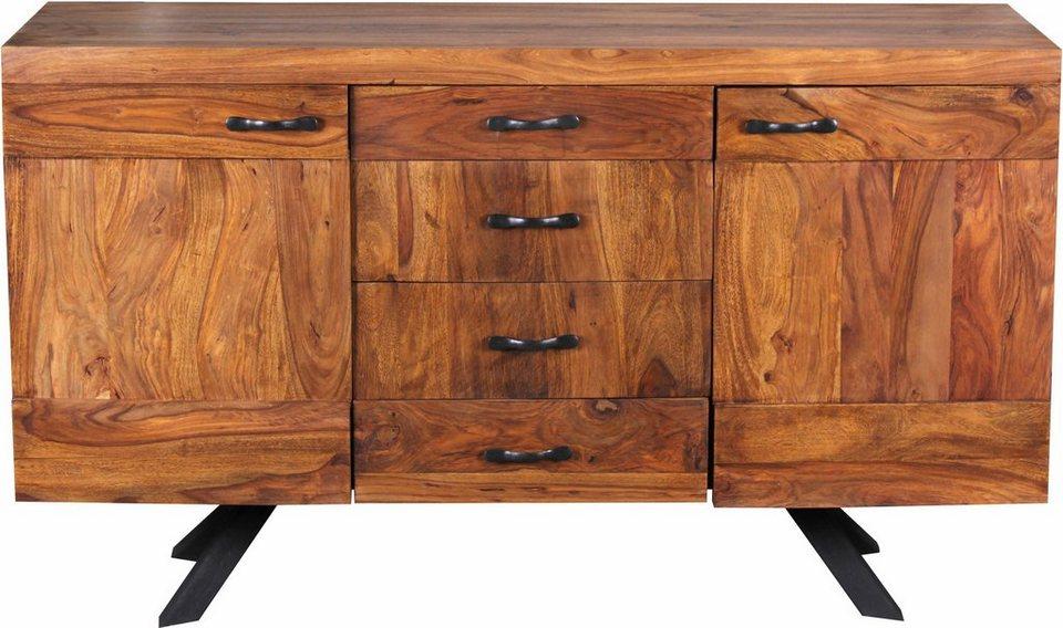 Home affaire Sideboard »Ajanabee«, Breite 145 cm in braun