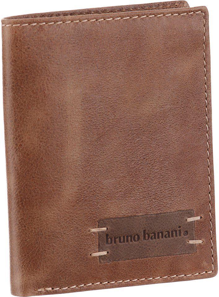 Bruno Banani Geldbörse, aus Leder in leichter Used-Optik