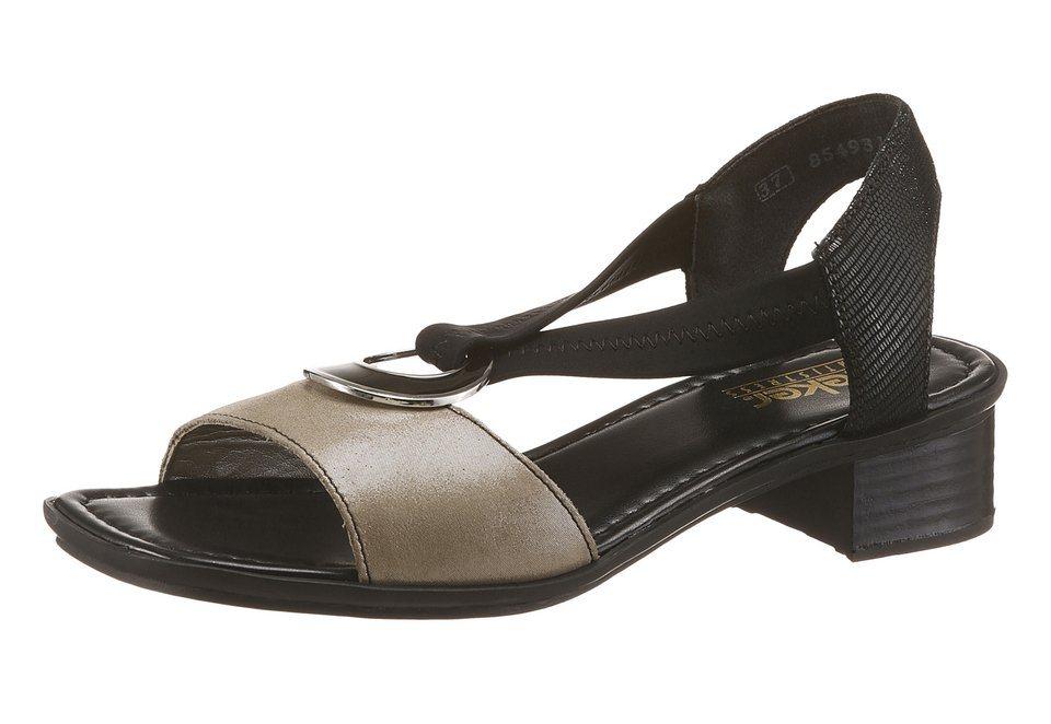 Rieker Sandalette in grau-schwarz