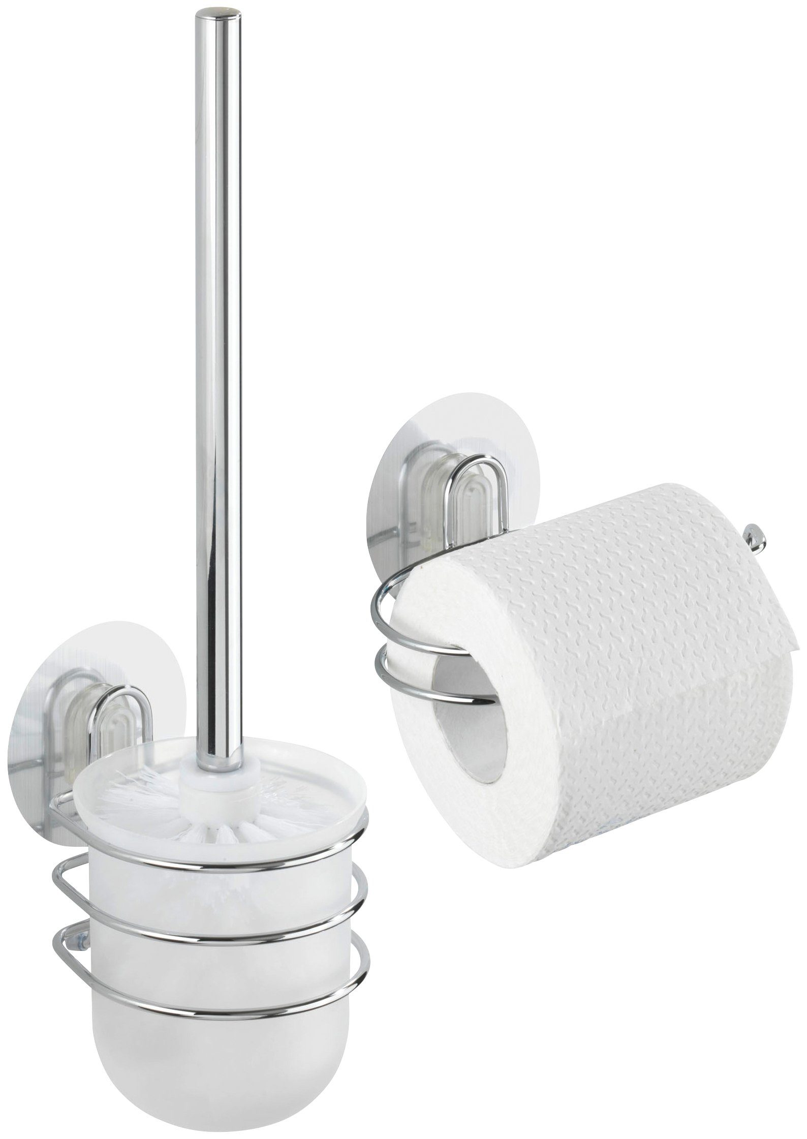 WENKO WC-Garnitur »Osimo«, WC-Rollenhalter, 2-teiliges Set, Static-Loc