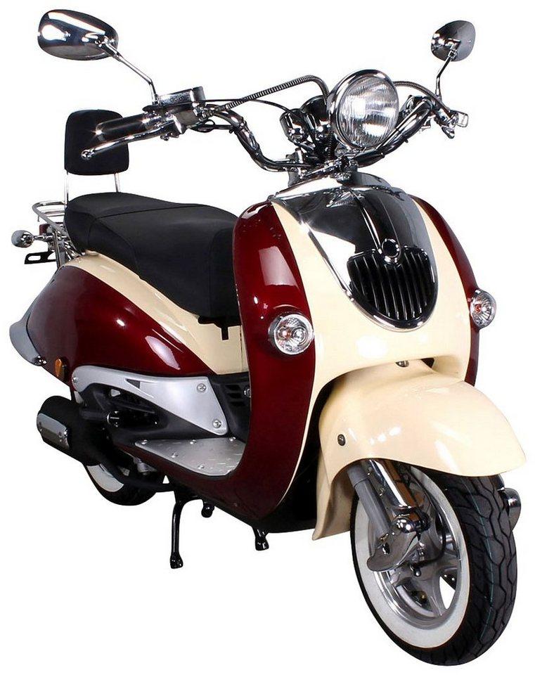 Motorroller, 50 ccm, 45 km/h, entdrosselbar in rot