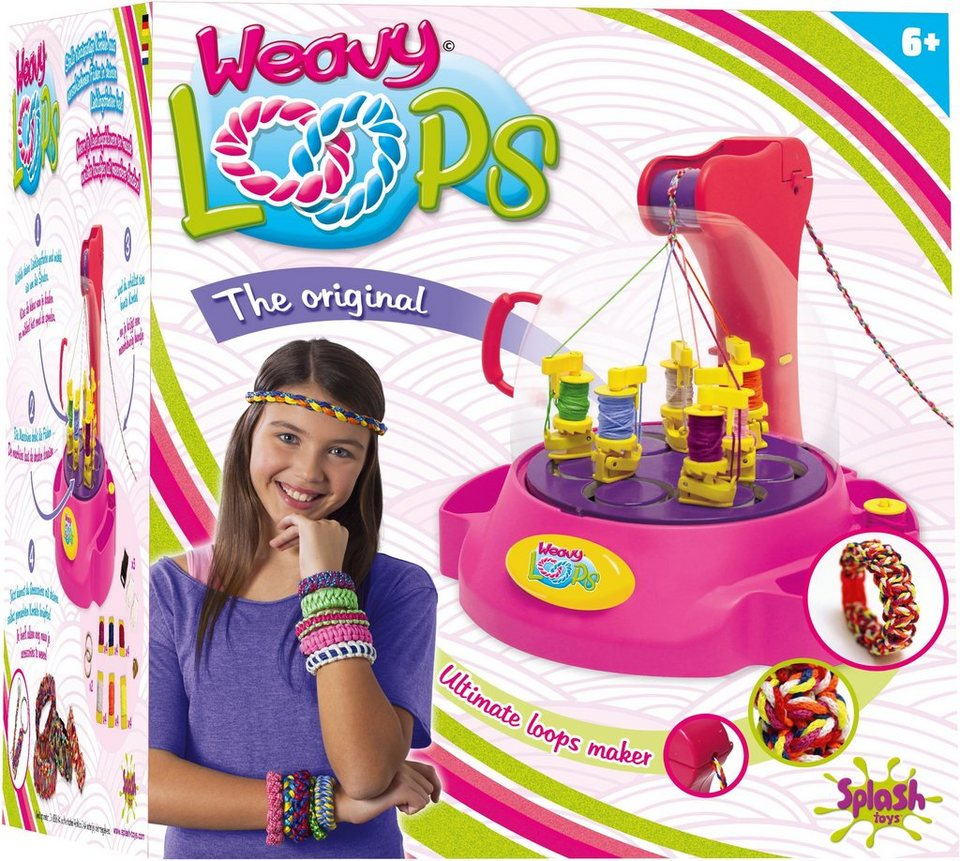 Splash Toys Knüpfmaschine, »Weavy Loops Ultimate Kordel-Maker« in pink