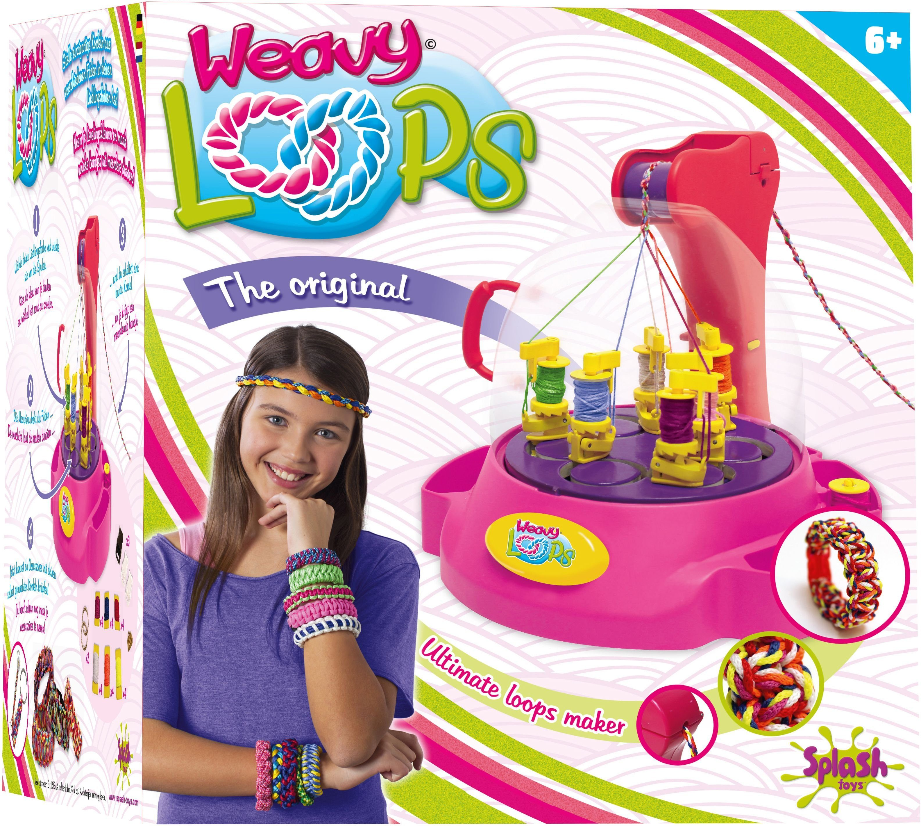 Splash Toys Knüpfmaschine, »Weavy Loops Ultimate Kordel-Maker«