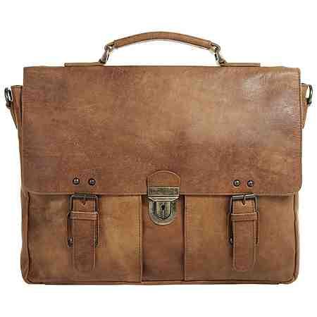 Ledertaschen passen perfekt zum Business- Look und bieten Platz für den Laptop.