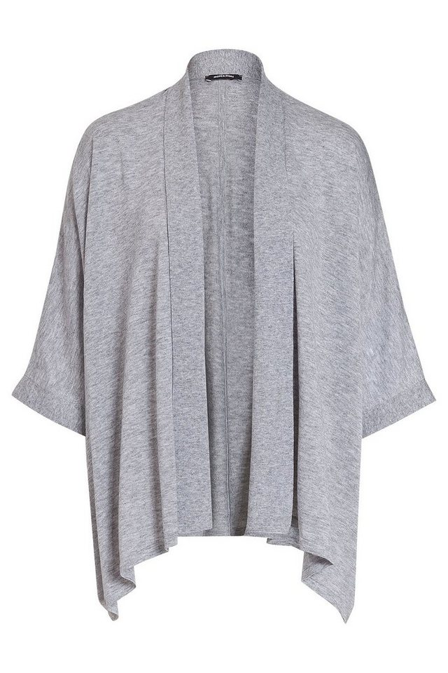 MORE&MORE Cape-Cardigan in schwarz in grau