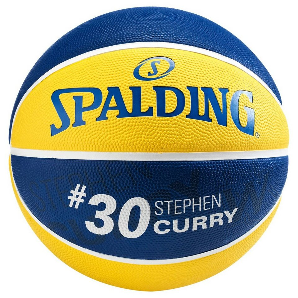 SPALDING NBA Player Stephen Curry Basketball in gelb / blau