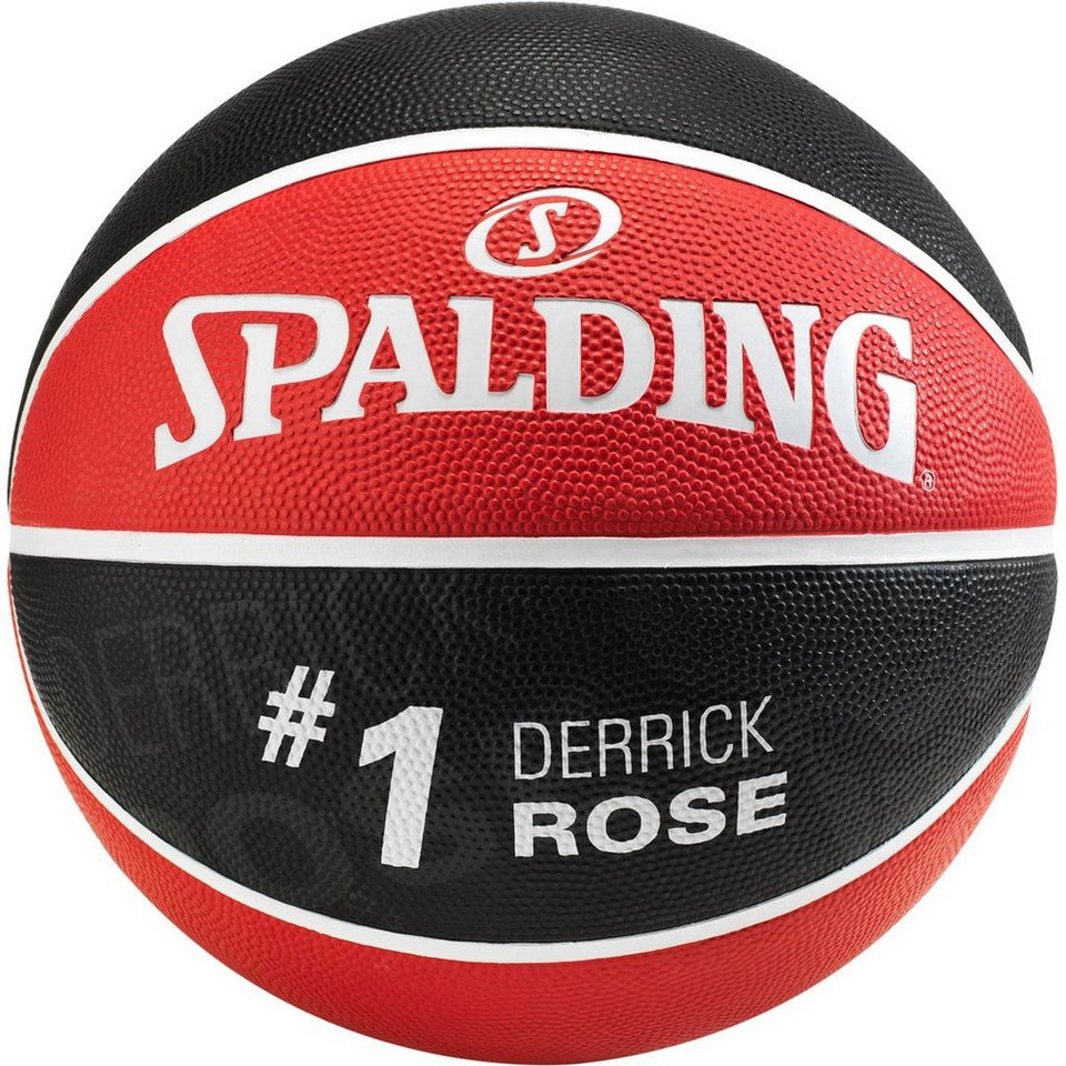 SPALDING NBA Player Derrick Rose Basketball in rot / schwarz