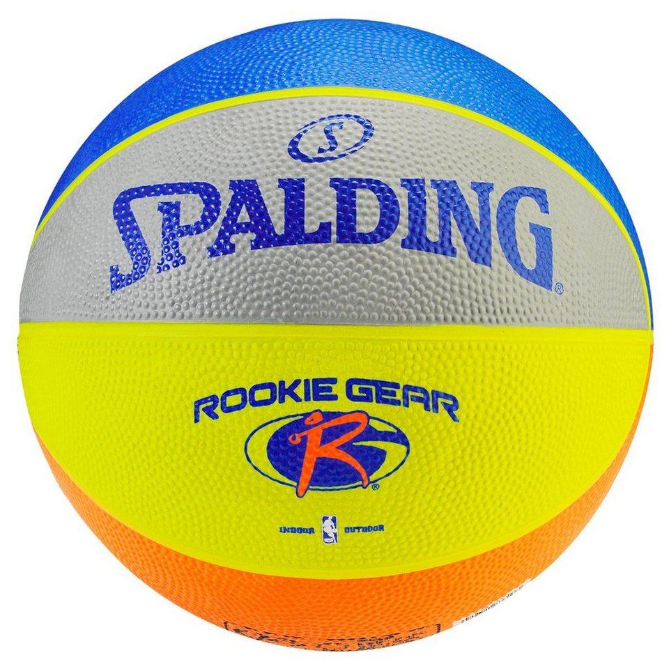SPALDING Rookie Gear Outdoor Basketball in grau / royal