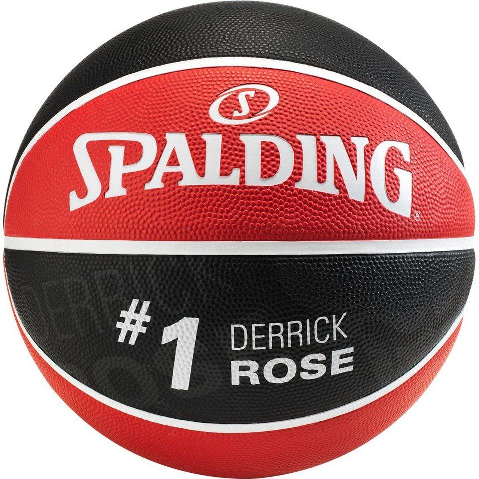 SPALDING NBA Player Derrick Rose Basketball in rot / schwarz