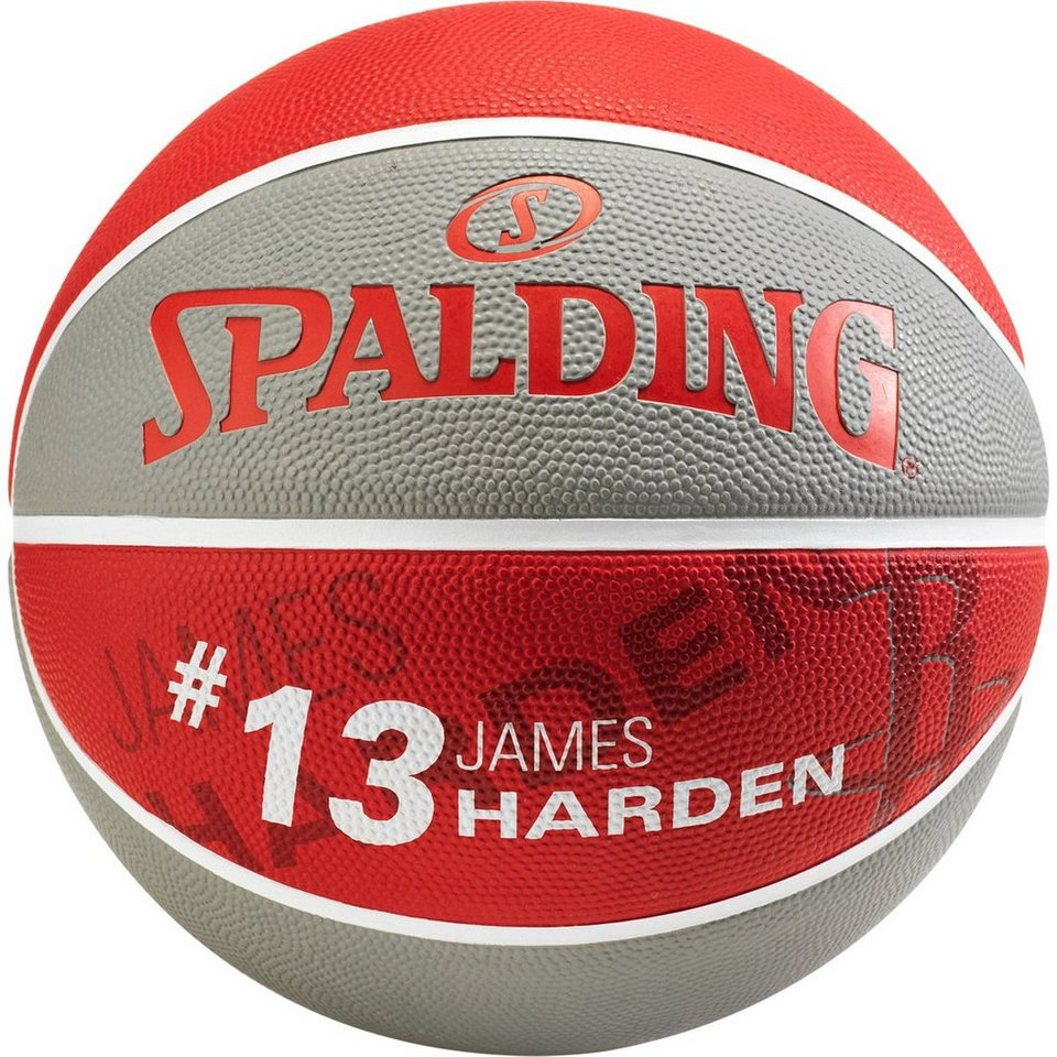 SPALDING NBA Player James Harden Basketball in grau / rot