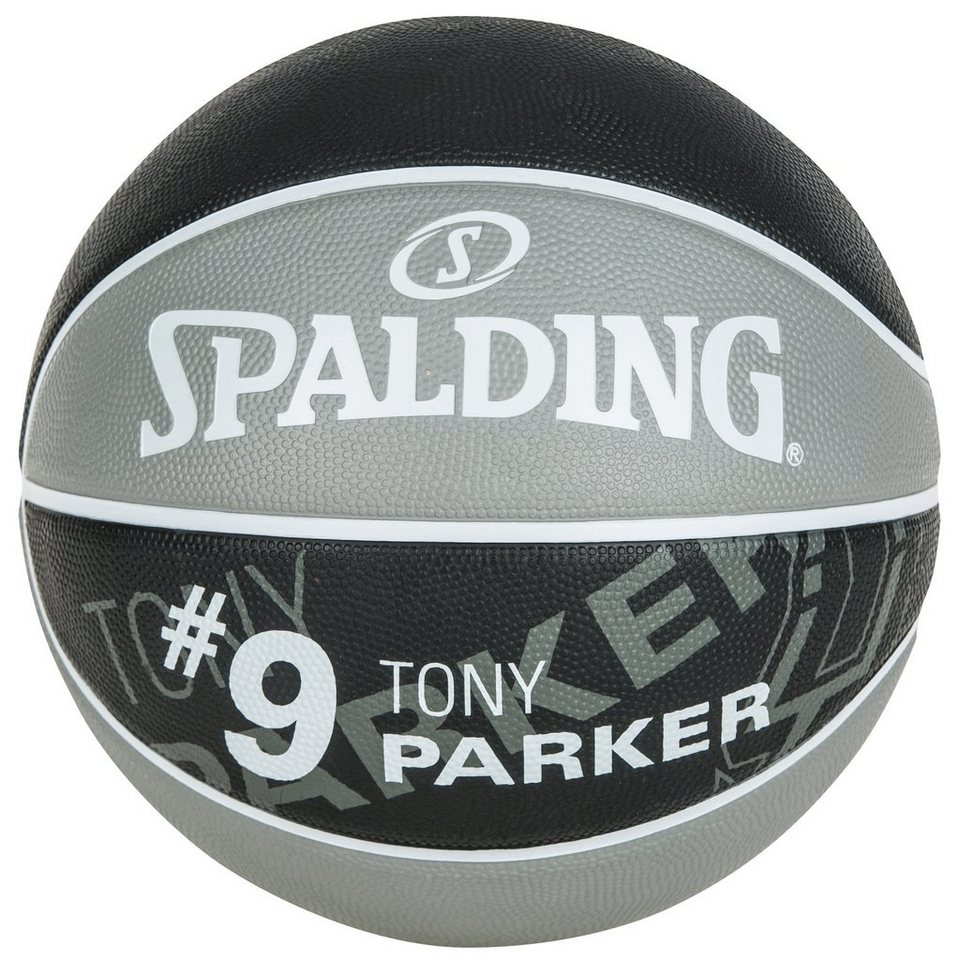 SPALDING NBA Player Tony Parker Basketball in grau / schwarz