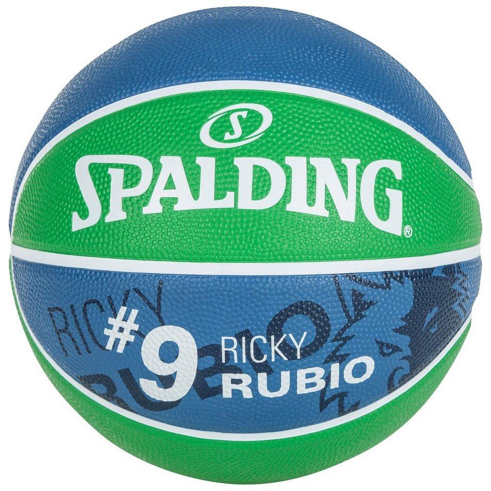 SPALDING NBA Player Ricky Rubio Basketball in grün / marine