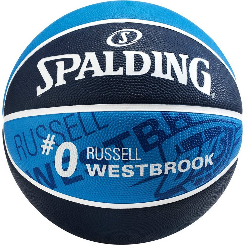 SPALDING NBA Player Russell Westbrook Basketball in marine / royal
