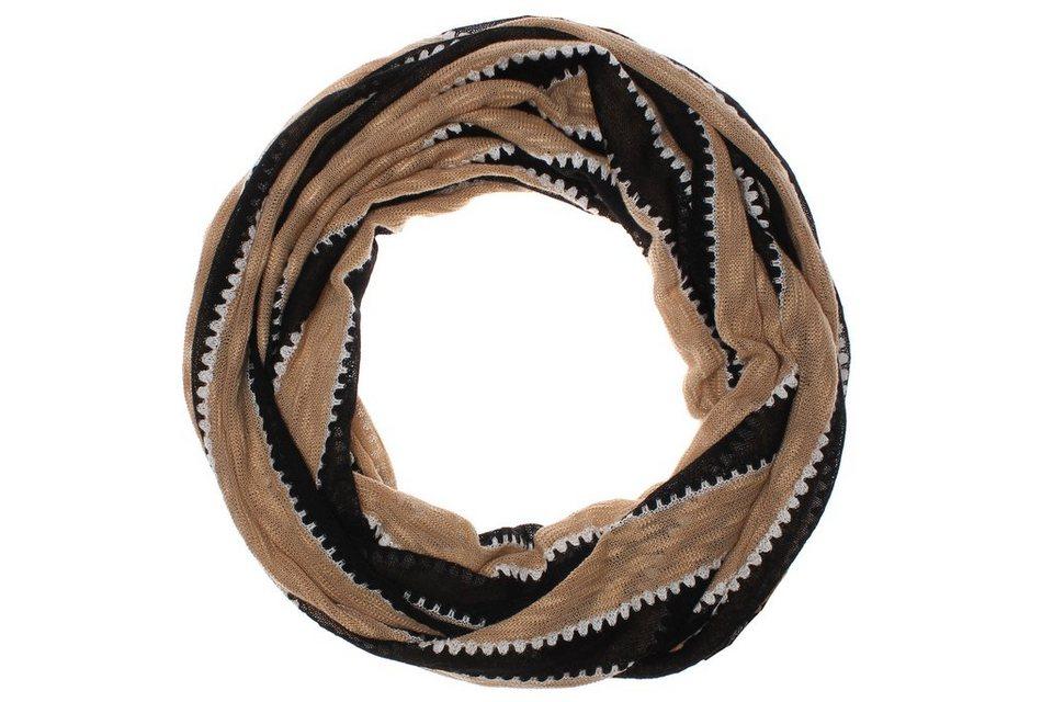 Usha Loop in schwarz/beige