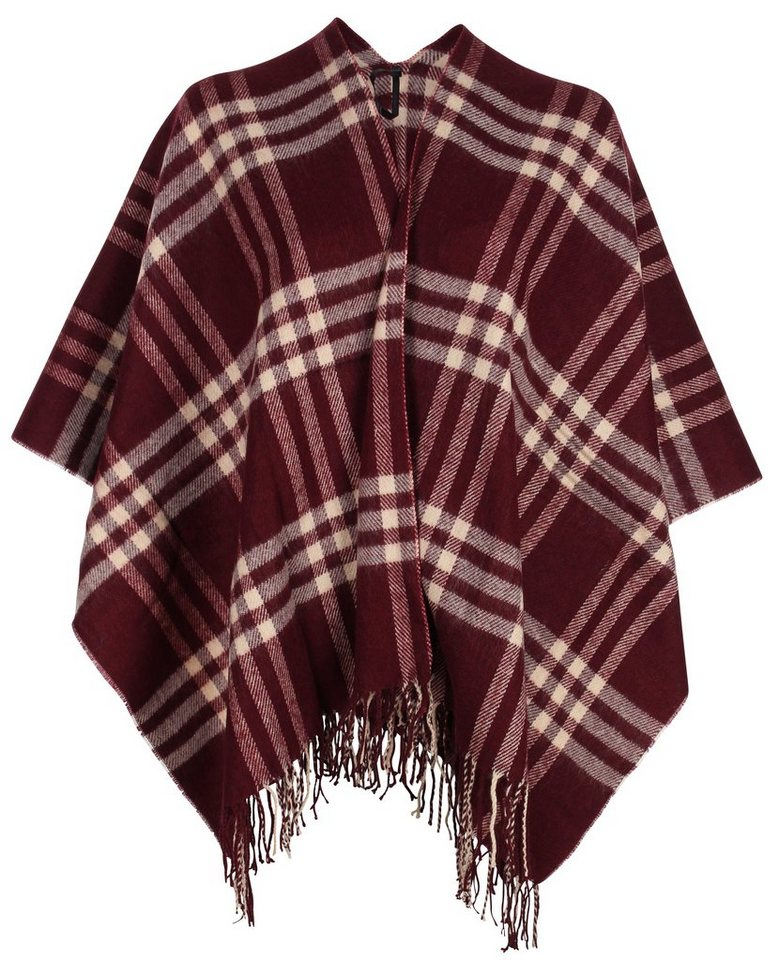 myMO CAPES in weinrot/rot/beige