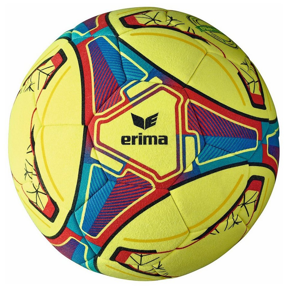 ERIMA Hybrid Indoor Fußball in gelb / blau