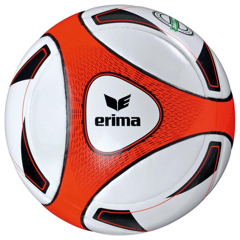 ERIMA Hybrid Match Fußball in weiß / neon orange