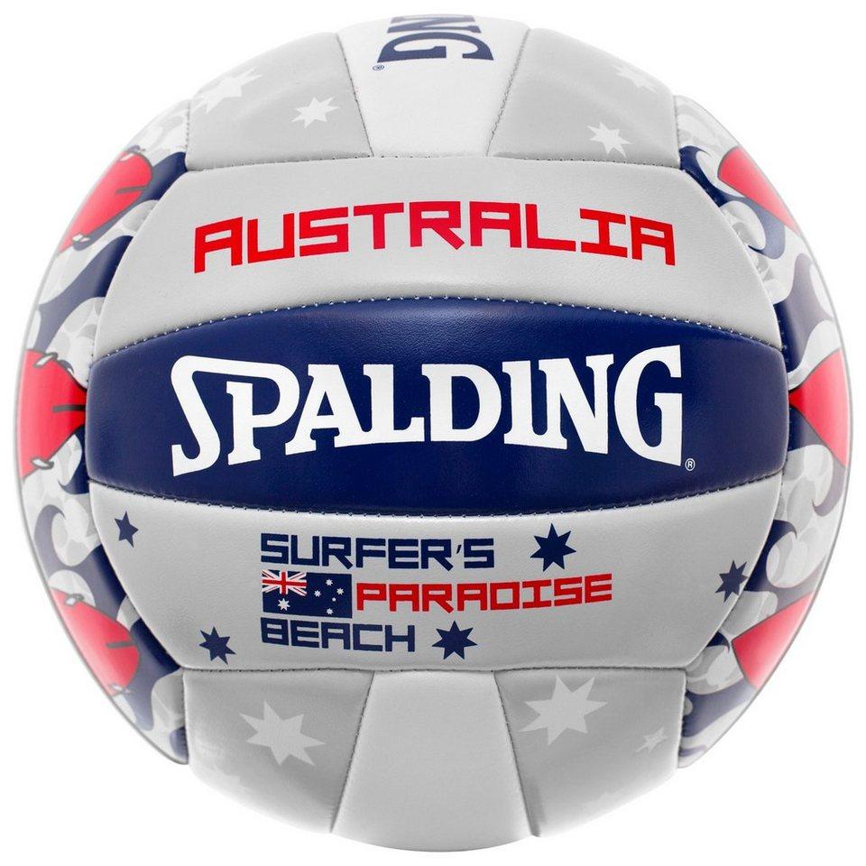 SPALDING Australia Beachvolleyball in white/red/blue