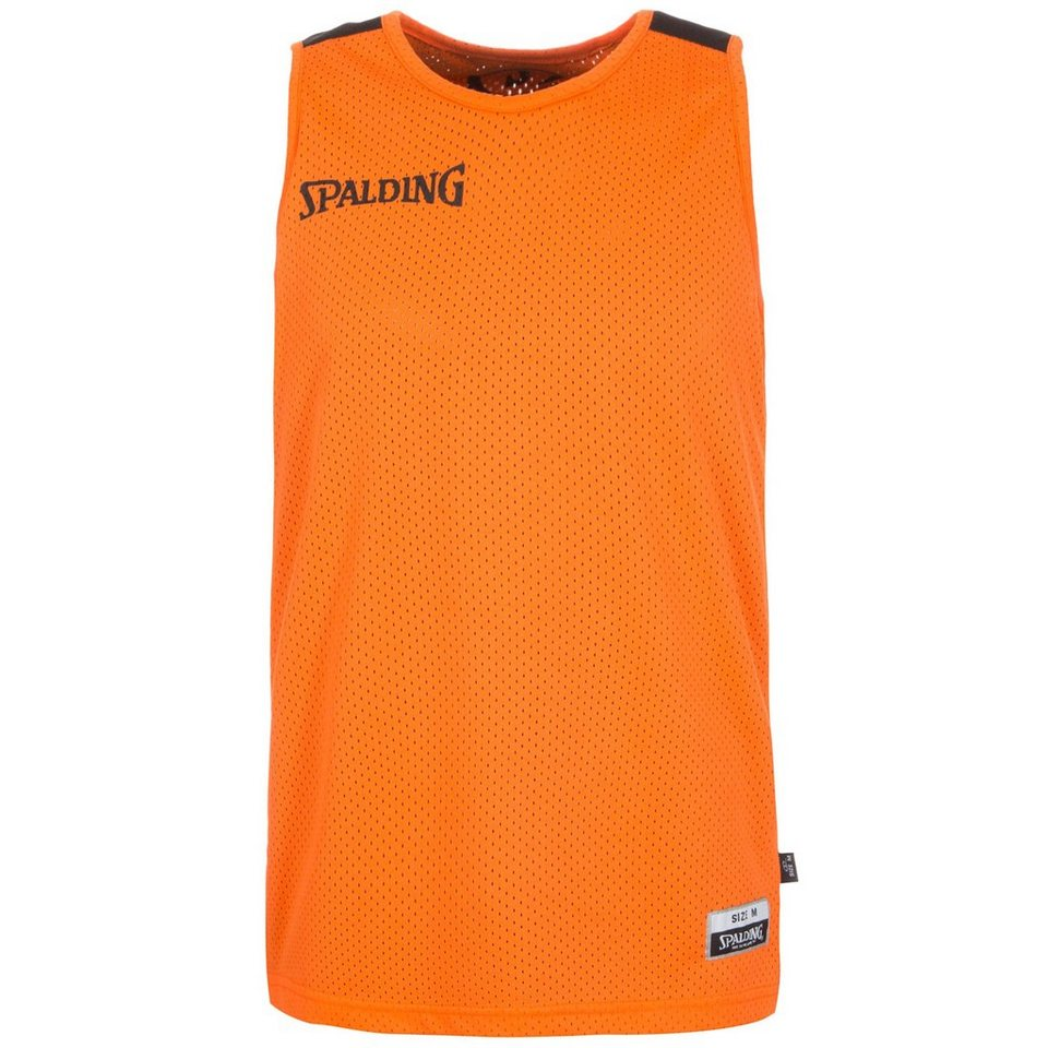 SPALDING Essential Reversible Basketballtrikot Herren in orange / schwarz