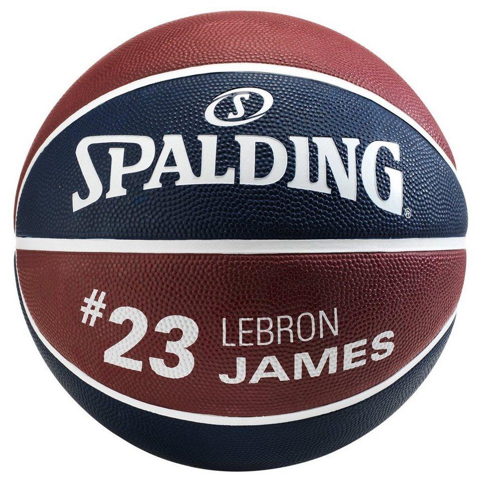 SPALDING NBA Player LeBron James Basketball in marine / bordeaux