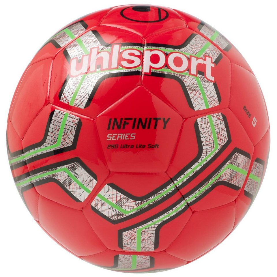 UHLSPORT Infinity 290 Ultra Lite Soft Fußball in rot / silber