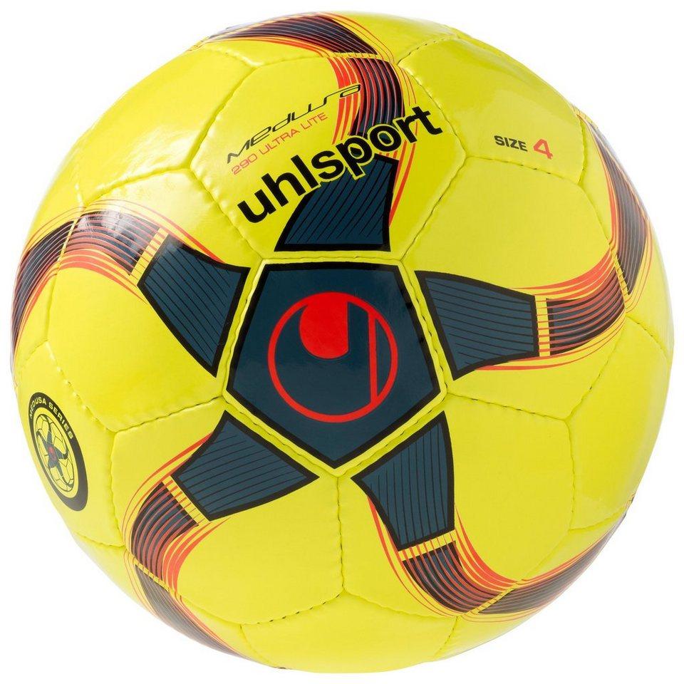 UHLSPORT Medusa Anteo 290 Ultra Lite Futsal Fußball in fluo gelb / petrol