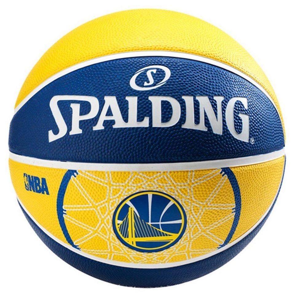 SPALDING NBA Team Golden State Basketball in gelb / blau
