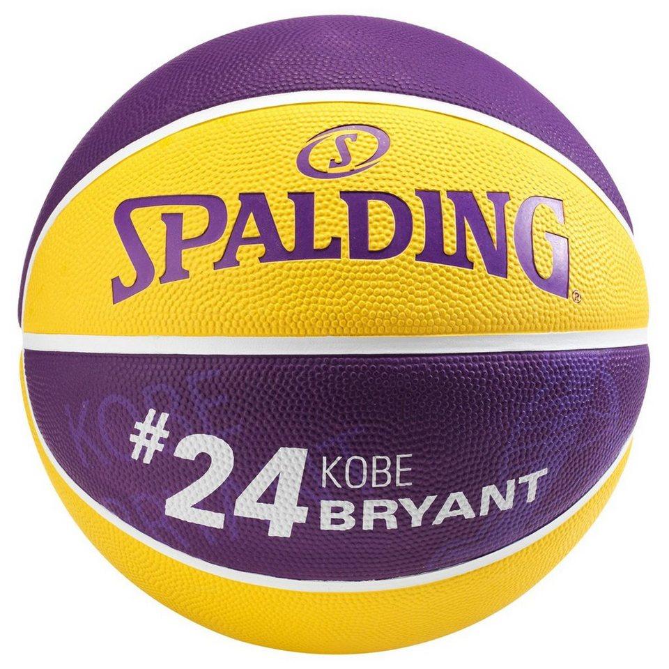 SPALDING NBA Player Kobe Bryant Basketball in gelb / lila
