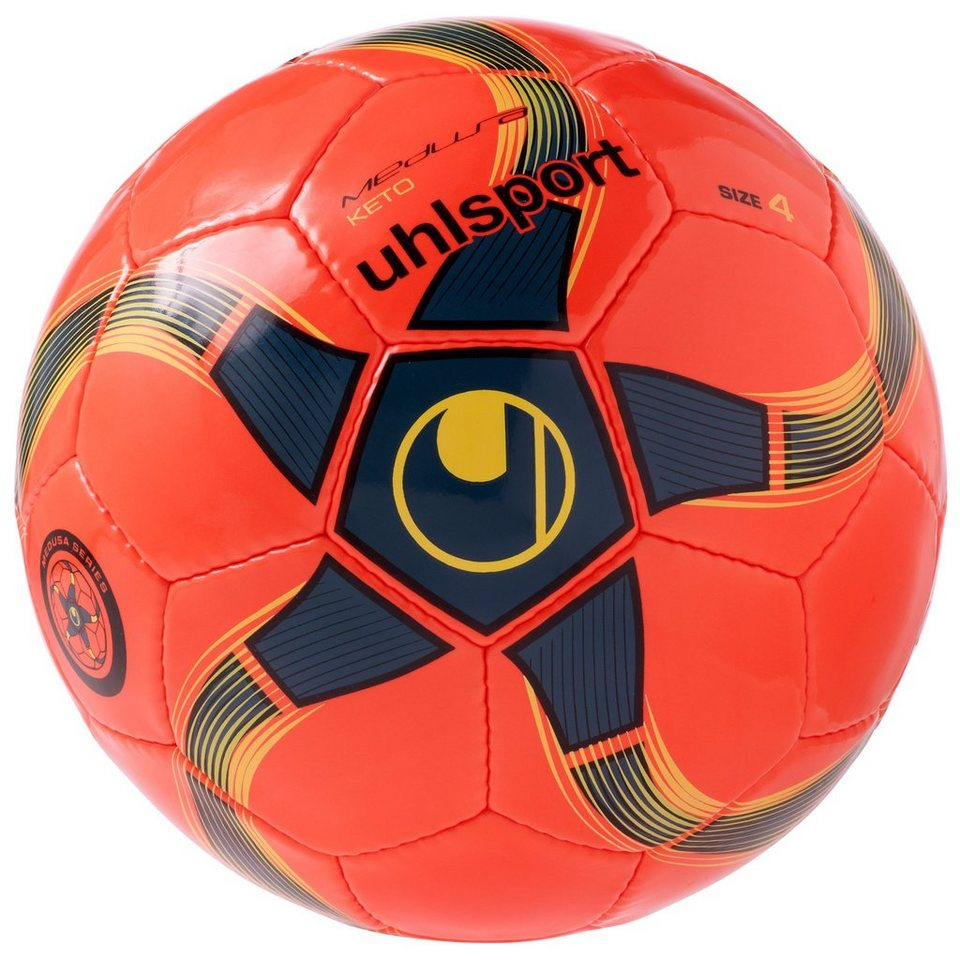 UHLSPORT Medusa Keto Fußball in fluo orange / petrol