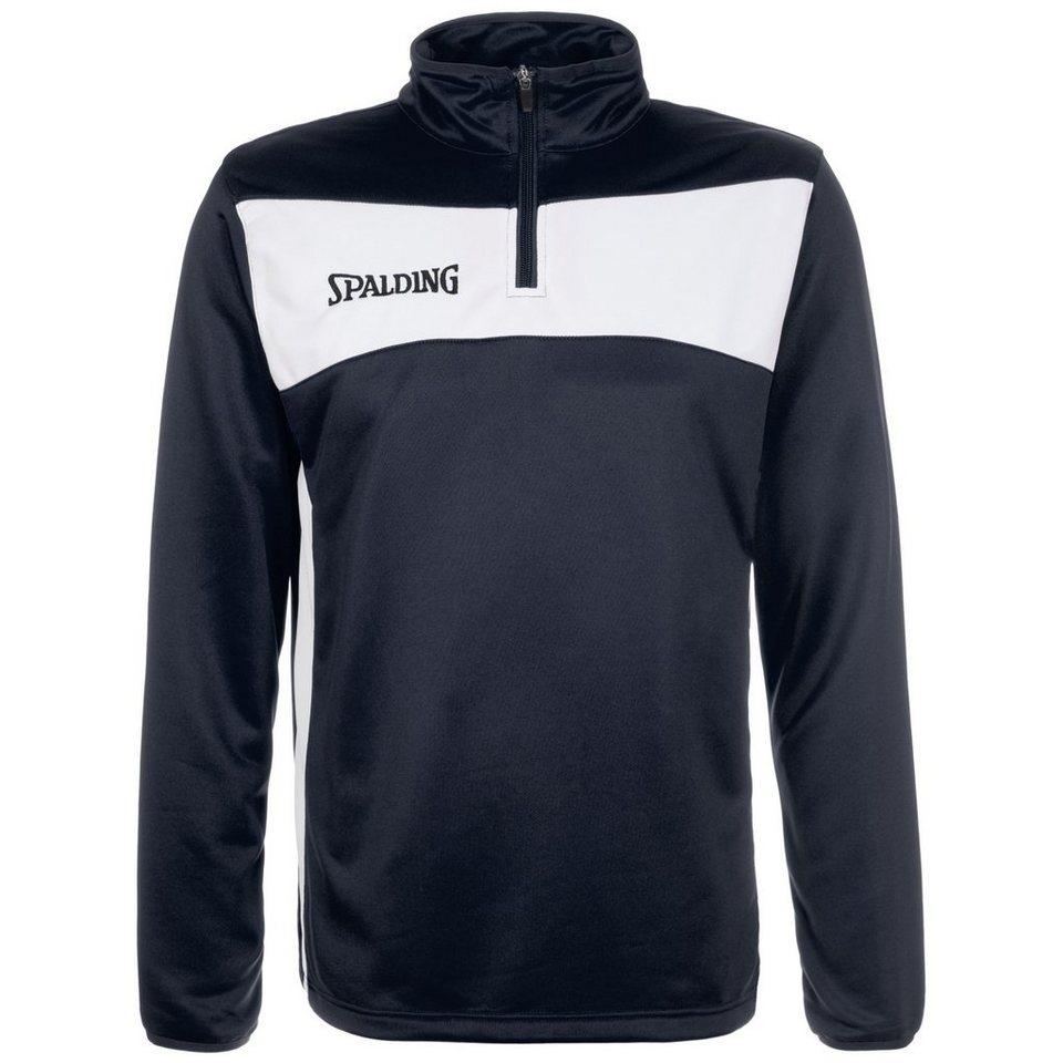 SPALDING Evolution II 1/4 Zip Sweatshirt Herren in marine / weiß