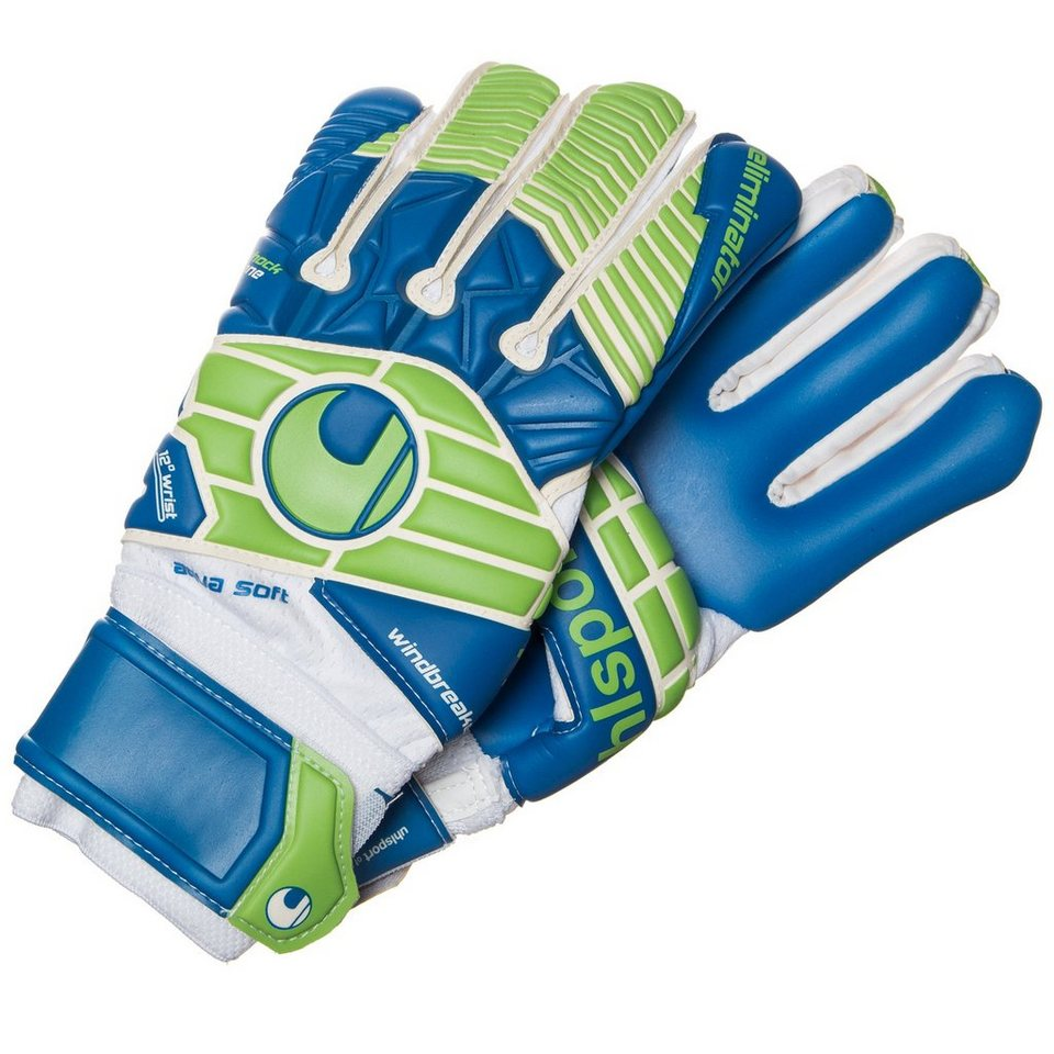 UHLSPORT Eliminator Aquasoft HN Torwarthandschuh Herren in weiß / pazifikblau