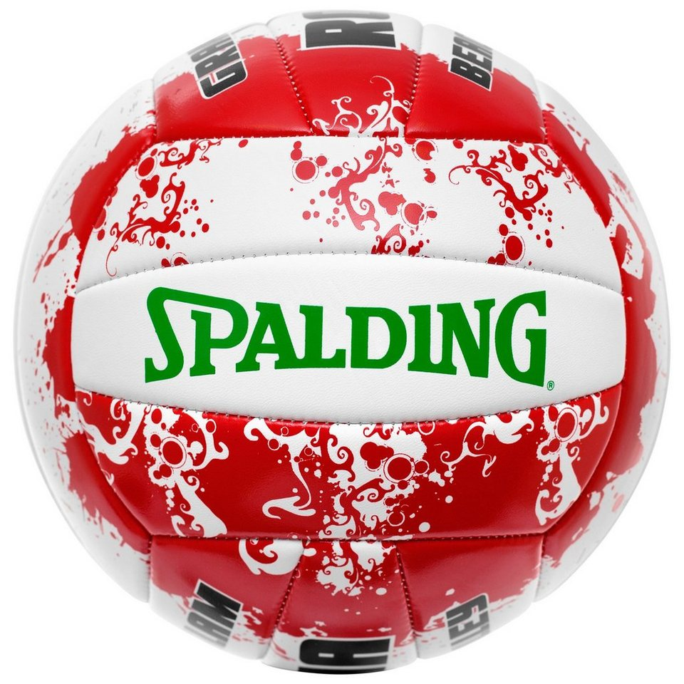 SPALDING Rome Beachvolleyball in white/red/green