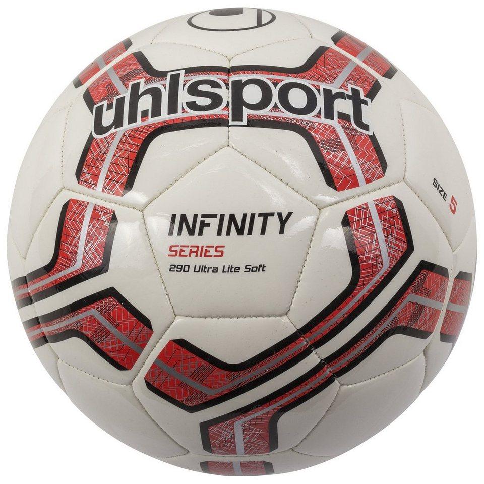 UHLSPORT Infinity 290 Ultra Lite Soft Fußball in weiß / rot / schwarz