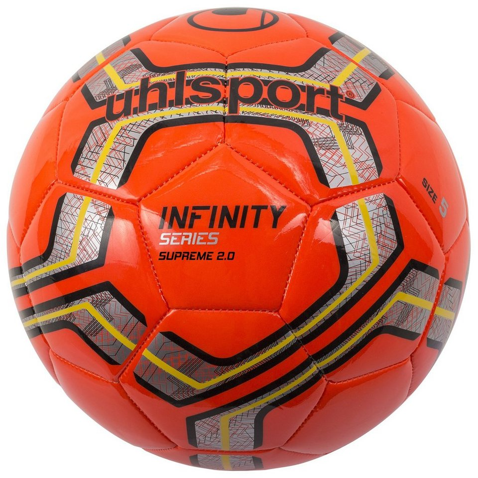 UHLSPORT Infinity Supreme 2.0 Fußball in fluo rot / silber