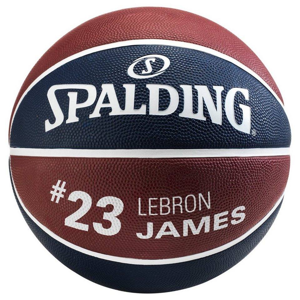 SPALDING NBA Player LeBron James Basketball in marine / bordeaux