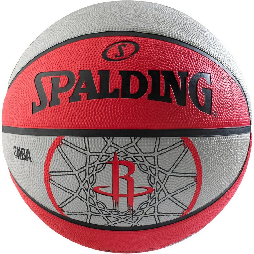 SPALDING NBA Team Houston Rockets Basketball in rot / weiß