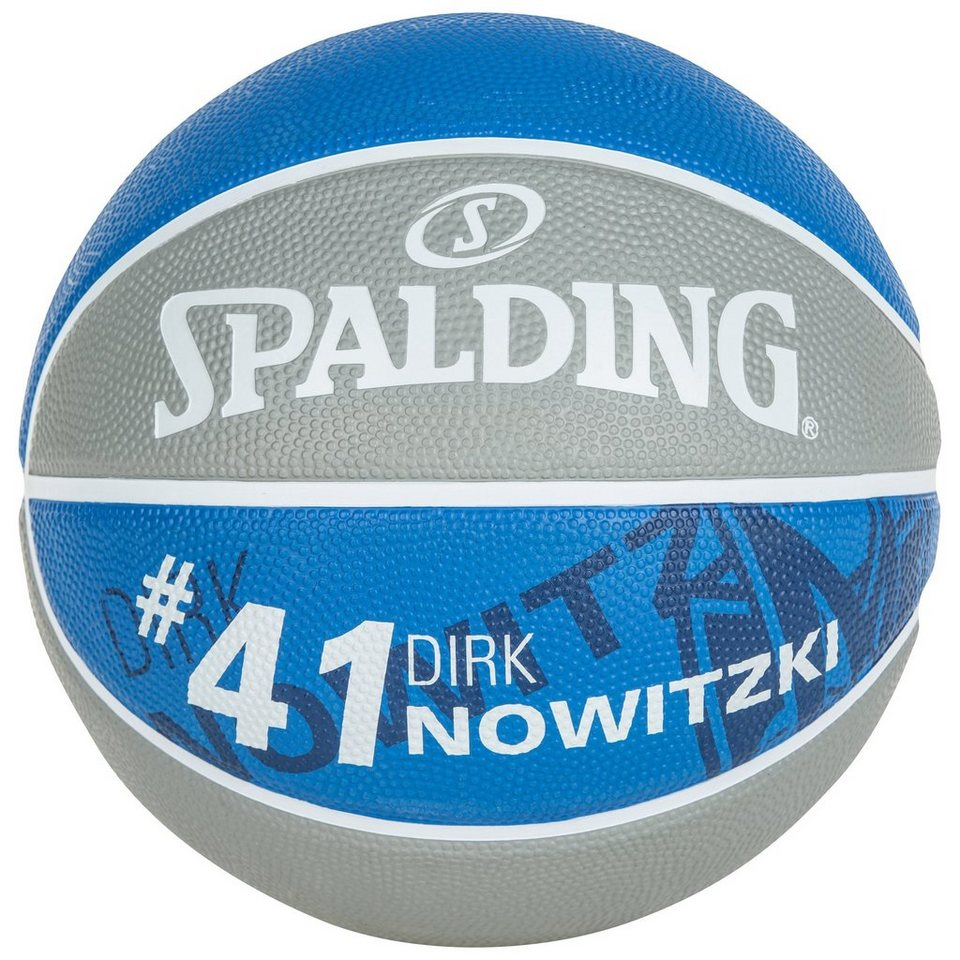 SPALDING NBA Player Dirk Nowitzki Basketball in grau / royal