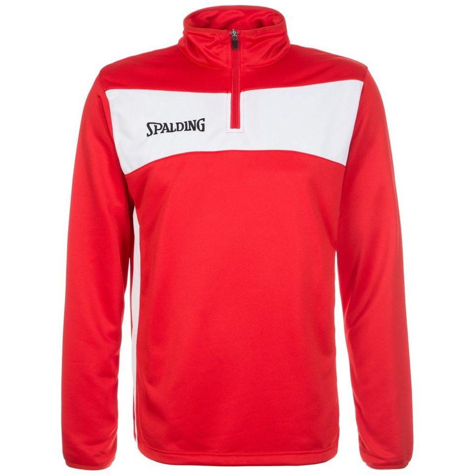 SPALDING Evolution II 1/4 Zip Sweatshirt Herren in rot / weiß