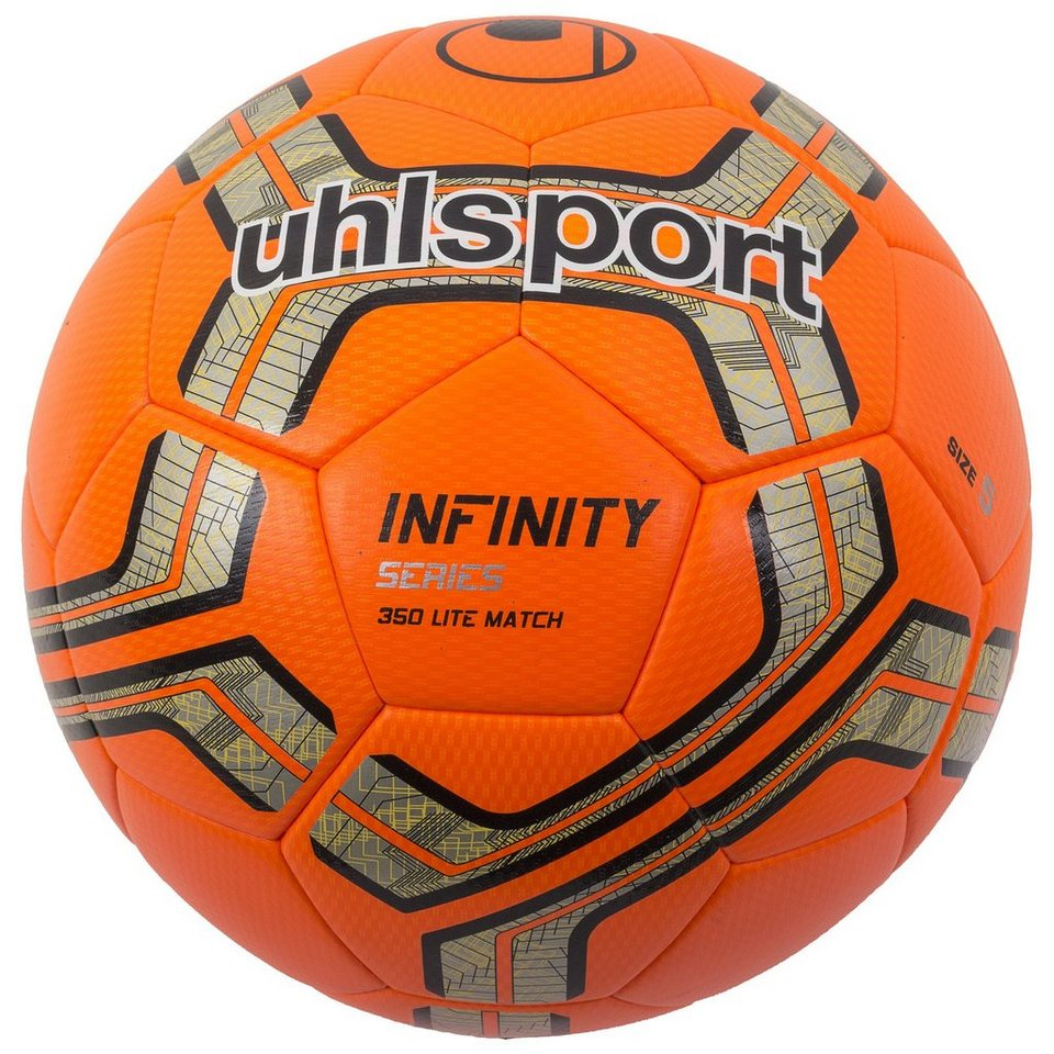 UHLSPORT Infinity Lite 350 Match 2.0 Fußball in fluo rot / silber