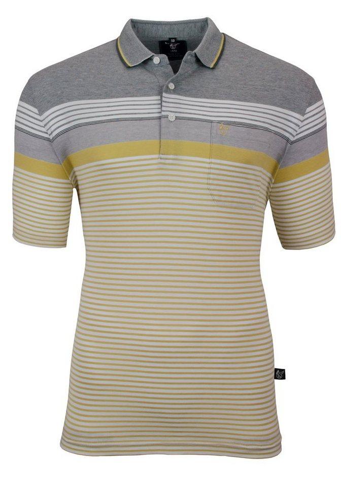 Hajo Farbenfrohes Poloshirt in pistazie