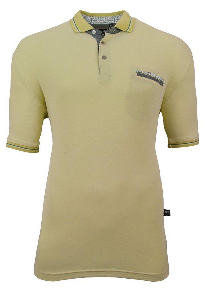 Hajo Sportives Pikee-Poloshirt in pistazie