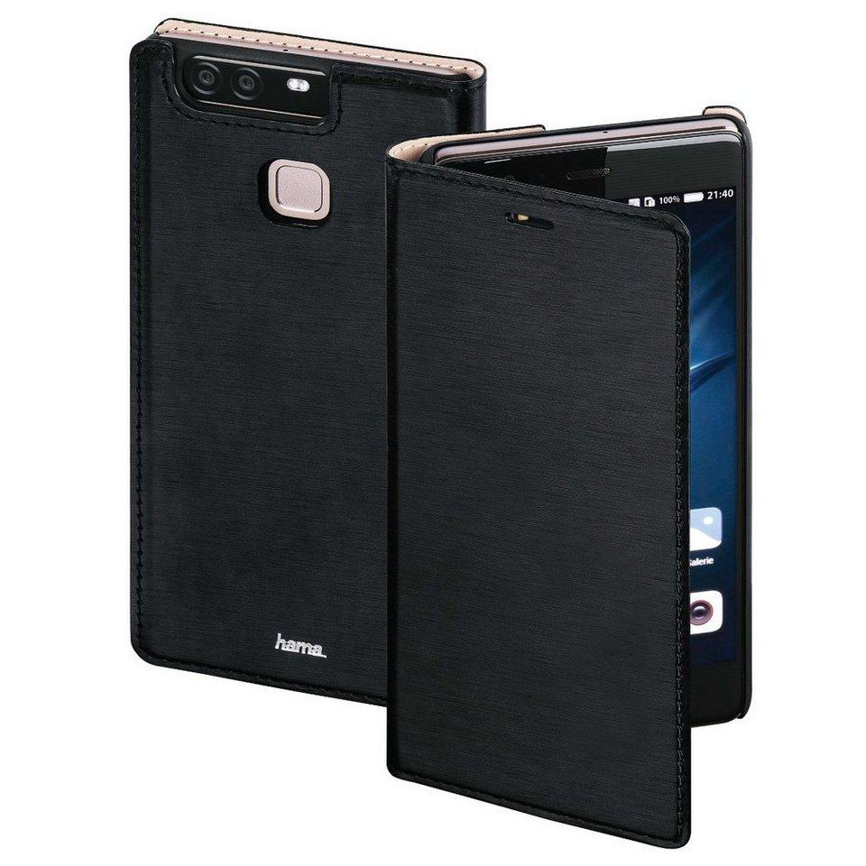 Hama Booklet Slim für Huawei P9 Plus, Schwarz in Schwarz